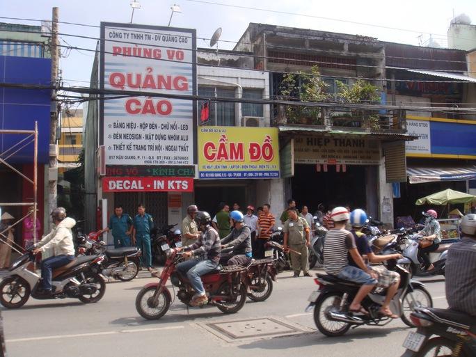 Công ty Công ty TNHH TM-DV Quảng cáo Phùng Võ ở số 817 Hậu Giang, phường 11, quận 6 – TP HCM, nơi xảy ra vụ giết người cướp xe máy vào trưa 23-9.