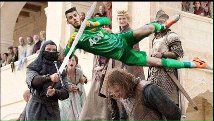 Với những pha cứu thua, De Gea cũng có thể bay người đẩy lưỡi gươm hành quyết Ned Stark trong loạt phim Trò chơi vương quyền