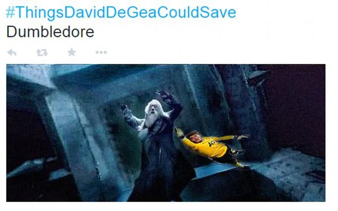 De Gea cũng có thể cứu Albus Dumbledore, nhân vật nổi tiếng trong loạt phim Harry Potter.