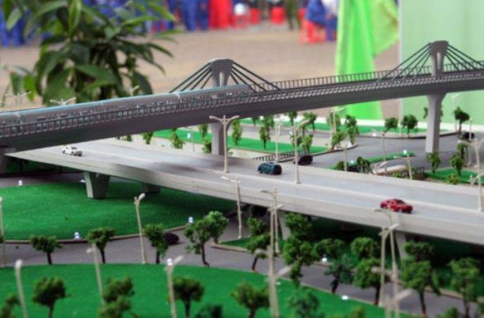 Mô hình phối cảnh dự án đường sắt Yên Viên - Ngọc Hồi