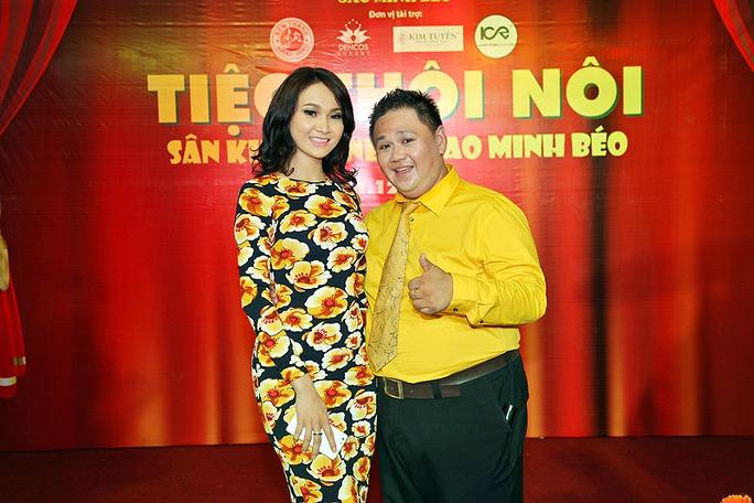 Trương Hải Vân đến chúc mừng Minh Béo