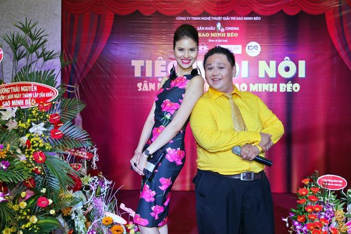 Người đẹp Lê Thị Phương đọ dáng với Minh Béo