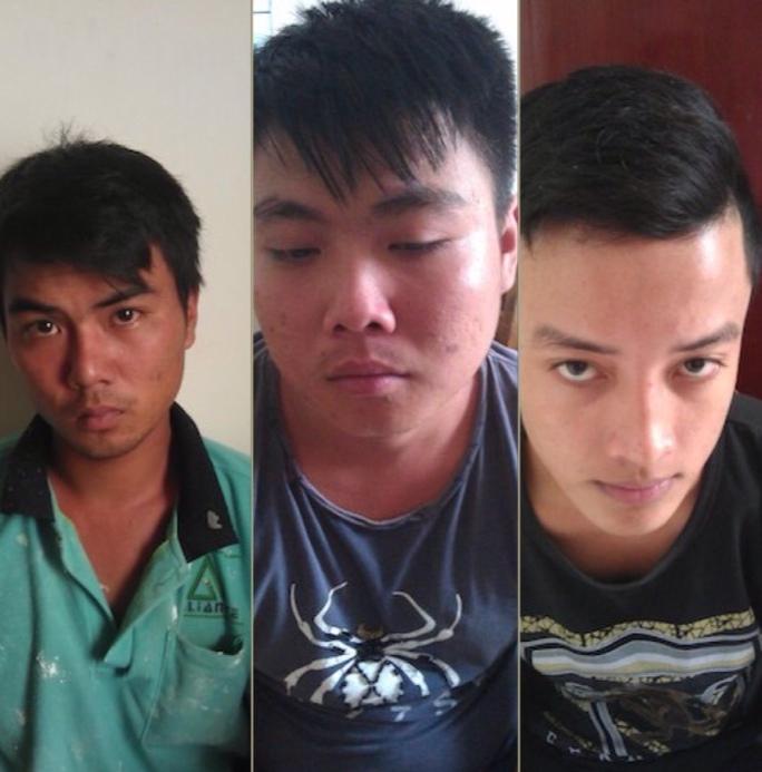 Ba đối tượng Long, Thuận, Chiến tại cơ quan điều tra