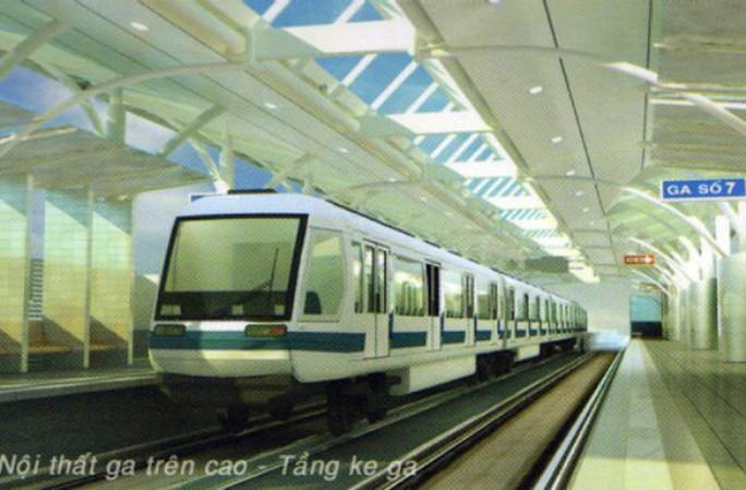 Mô hình nhà ga trên cao