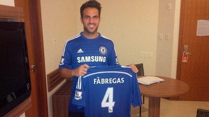 Fabregas trong ngày ra mắt Chelsea