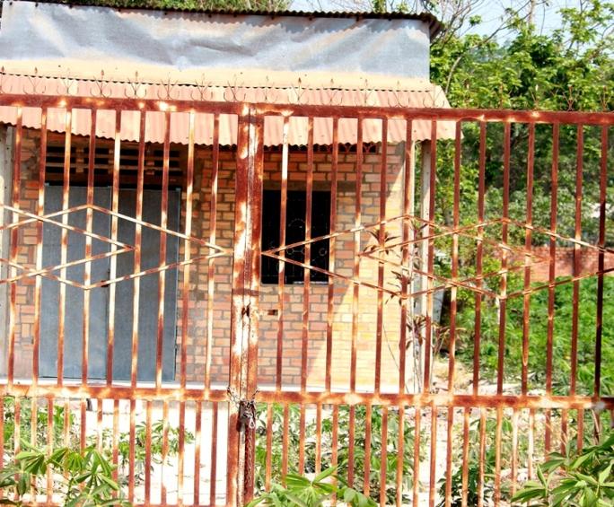 Hiện trường căn nhà, nơi xảy ra vụ án mạng vì ghen