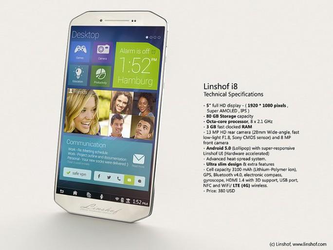Linshof i8, thiết kế lạ, bộ nhớ 80GB, giá rẻ