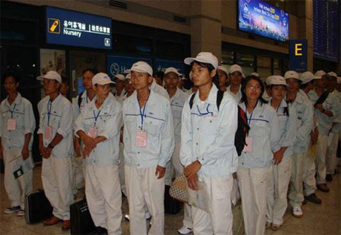 Người lao động Việt Nam nhập cảnh vào Hàn Quốc.