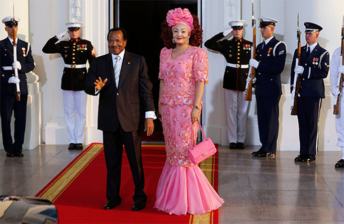 Tổng thống Cameroon Paul Biya và phu nhân Chantal Biya. Ảnh: Reuters