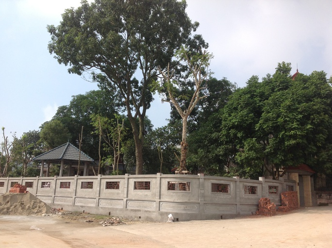Vị trí khu đất được xác định lấn chiếm gần 400 m2