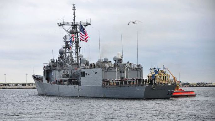 ht uss taylor file kb 140218 16x9 608 US Navy Ship on Olympics Duty Ran Aground