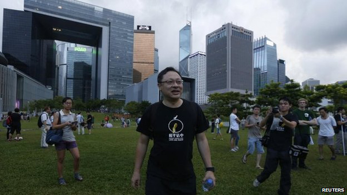 Benny Tai is a founder of the Occupy Central protest group