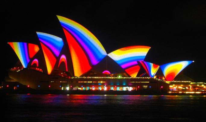Hàng ngàn du khách đền Úc tham dự lễ hội. Ảnh: Across Oceania
