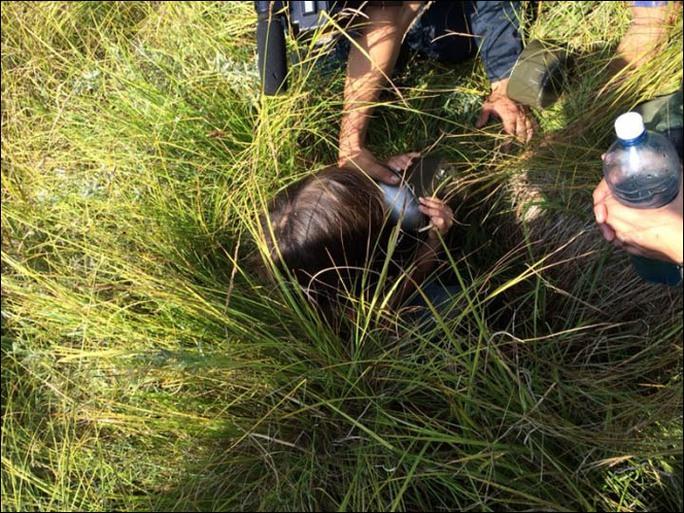 Chú chó đã dẫn đường nhân viên cứu hộ tìm thấy Karina. Ảnh: SakhaPress