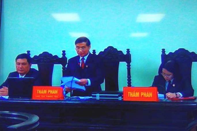 Hội đồng xét xử phúc thẩm bắt đầu tuyên án
