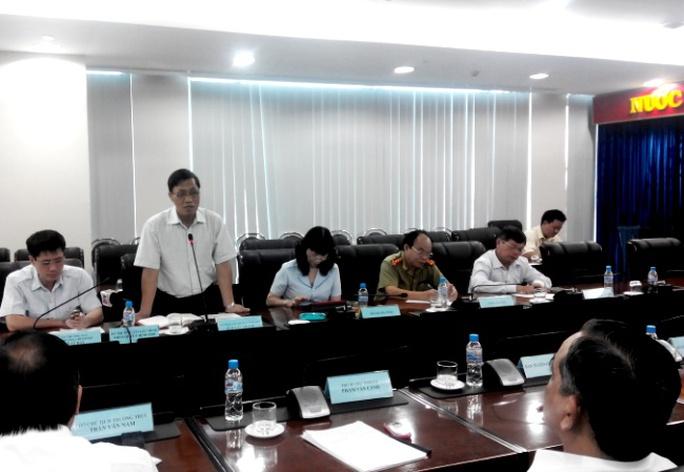 Ông Ngô Văn Khánh, Phó Tổng Thanh tra Chính phủ phát biểu tại buổi công bố kết luận