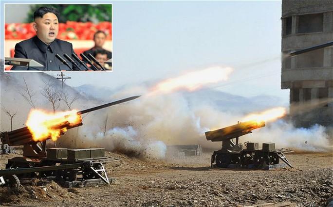 Một cuộc tập trận của Triều Tiên. Ảnh: Reuters