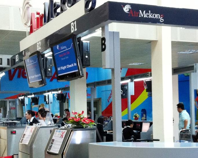 Quầy check in của Air Mekong ở sân bay Tân Sơn Nhất  khi hãng còn hoạt động