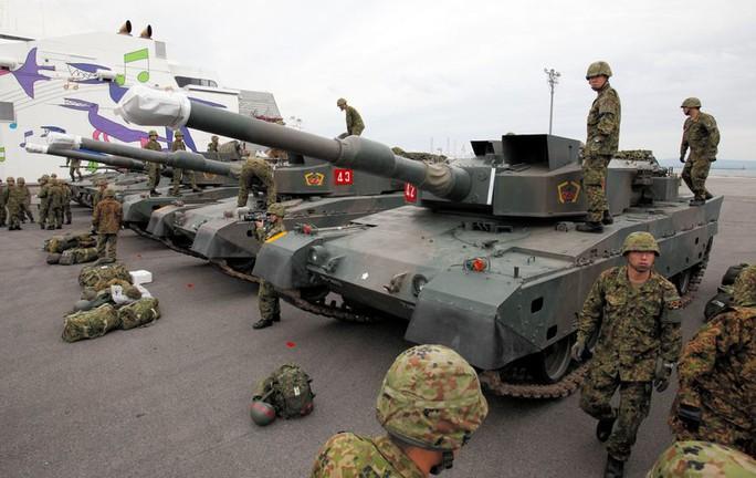 Xe tăng Type 90 được Lực lượng Phòng vệ Nhật Bản sử dụng. Ảnh: Asahi
