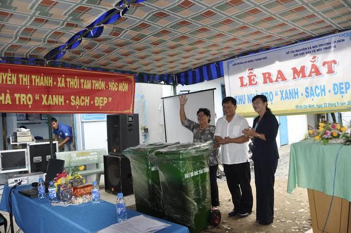 Lễ ra mắt một khu nhà trọ tự quản tại huyện Hóc Môn, TP HCM    ẢNH: VĨNH TÙNG