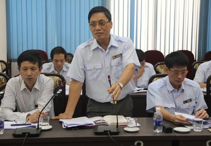 Ông Ngô Văn Khánh phát biểu tại buổi công bố quyết định thanh tra Tổng công ty Đường sắt Việt Nam. Ảnh: Thanh Loan