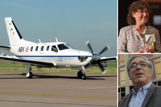 Larry Glazer và vợ được xác nhận đã thiệt mạng trên chiếc máy bay tư nhân Socata TBM-700. Ảnh: Wikipedia Creative Commons ; AP