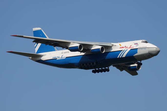 Chiếc máy bay Antonov 124 đã được thả tự do. Ảnh: Wikipedia