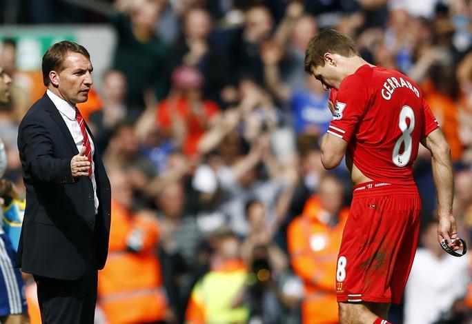 Hình ảnh tượng trưng cho thất bại của Liverpool đêm qua trước Chelsea