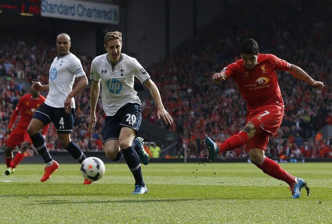 Suarez ghi bàn mở tỉ số cho Liverpool