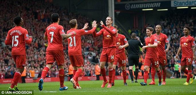Lữ đoàn đỏ Liverpool có trận đấu tưng bừng trên sân nhà