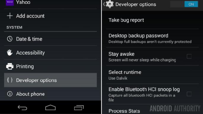 Kích hoạt tính năng Developer options trên Android
