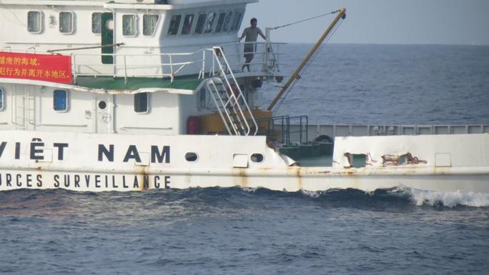 Tàu KN-765 của lực lượng Kiểm ngư Việt Nam bị tàu Trung Quốc đâm hư hỏng quanh khu vực giàn khoan 981
