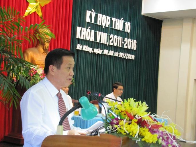 Bí thư Thành ủy, Chủ tịch HĐND TP Đà Nẵng Trần Thọ, phát biểu khai mạc