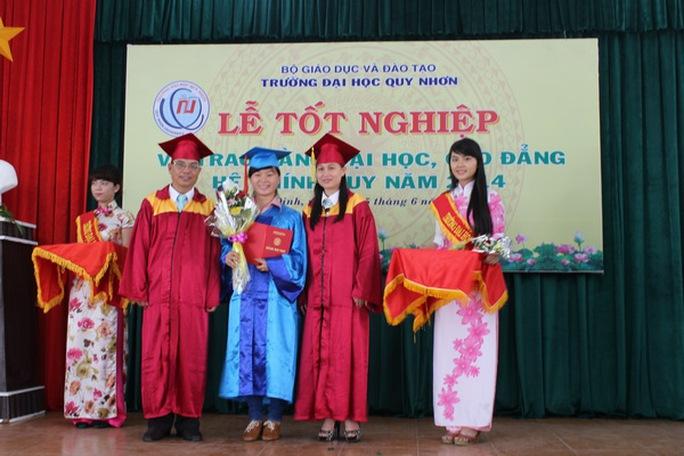 Trường ĐH Quy Nhơn trao bằng tốt nghiệp cho sinh viên khoa 33.