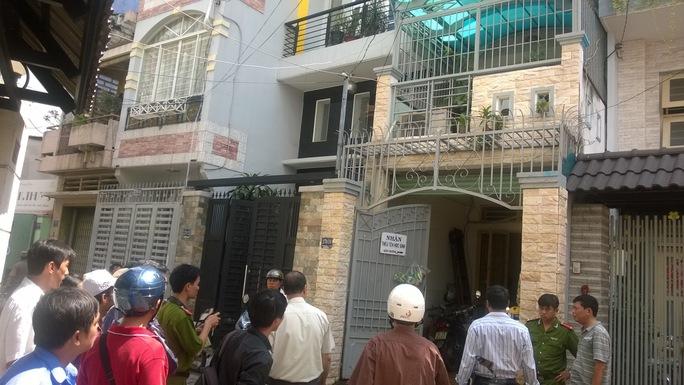 Căn nhà 270/10 Phan Đình Phùng, phường 1, quận Phú Nhuận – TP HCM, nơi ông Tâm tự thiêu vào sáng 25-10.