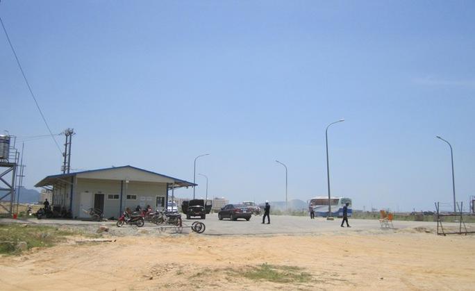 Tình hình tại khu Formosa, Khu vực kinh tế Vũng Áng (Hà Tĩnh) đã ổn định trở lại. (ảnh chụp vào sáng ngày 15-5)
