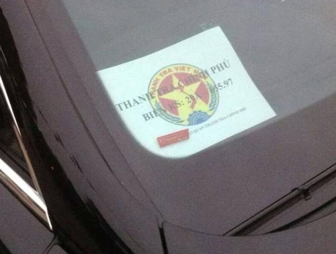 Chiếc xe Bentley gắn logo giả mạo của Thanh tra Chính phủ