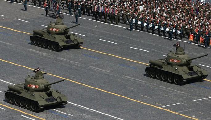 Xe tăng T-34-85 sử dụng trong Chiến tranh Vệ quốc Vĩ đại. Ảnh: RIA Novosti.