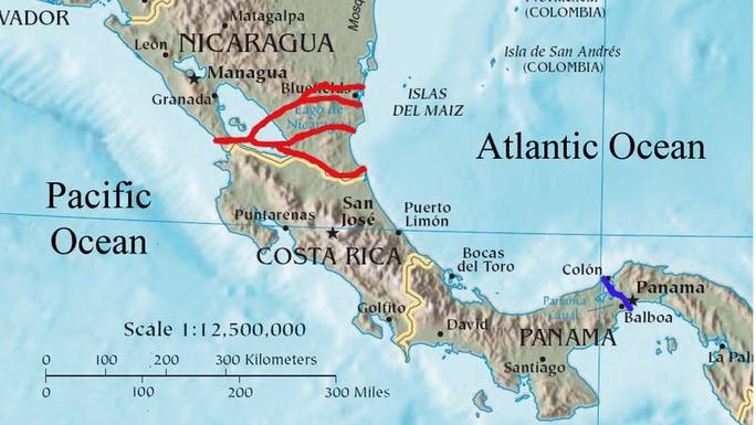 Trung Quốc có thể đứng sau dự án kênh đào Nicaragua. Ảnh: Maritime Executive