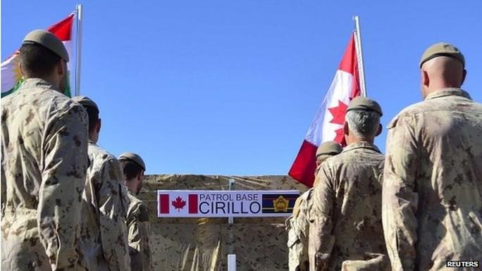Binh sĩ Canada vừa có trận đấu súng nảy lửa với IS tại Iraq. Ảnh: Reuters