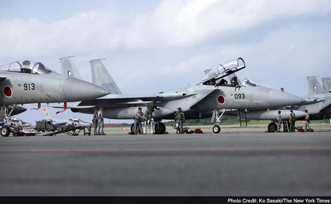 Chiến đấu cơ F-15 của Nhật Bản. Ảnh: New York Times