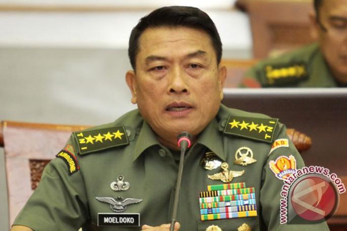Tư lệnh Lực lượng Vũ trang Indonesia, tướng Moeldoko. Ảnh: ANTARA News