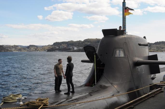 Tàu ngầm tấn công U-33 của Đức tham gia cuộc tập trận Dynamic Mongoose 2015. Ảnh: Stars and Stripes