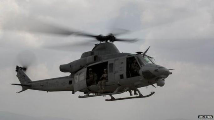 Một chiếc trực thăng UH-1Y Huey của Mỹ. Ảnh: Reuters