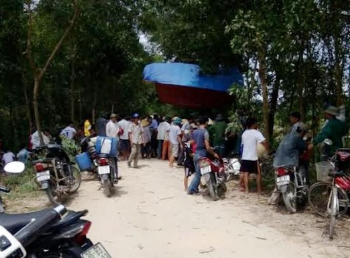 Hiện trường vụ tai nạn thương tâm khiến 2 cha con ở Thanh Hóa thương vong