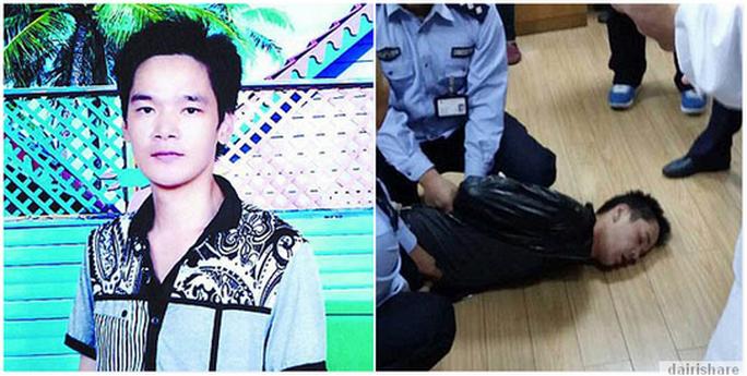 Lian Enqing bị cảnh sát bắt sau khi đâm chết bác sĩ phẫu thuật của mình. Ảnh: DAIRISHARE