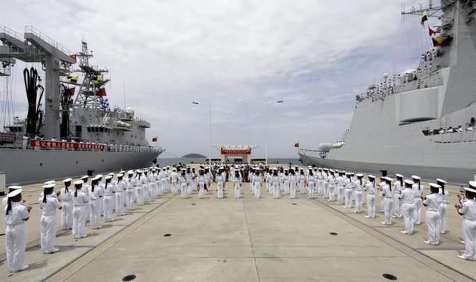 Thủy thủ Hải quân Trung Quốc trước cuộc tập trận RIMPAC năm 2014. Ảnh: Reuters