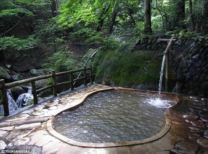 Suối nước nóng Fudo no Yu. Ảnh: Flickr