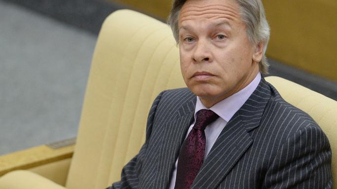 Chủ tịch Ủy ban Đối ngoại Duma Quốc gia (Hạ viện Nga) Aleksey Pushkov. Ảnh: RIA Novosti