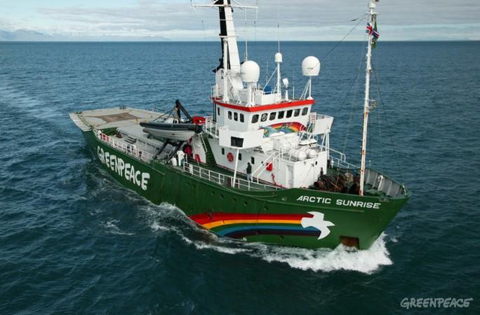 Tàu Arctic Sunrise. Ảnh: Greenpeace